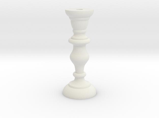 Candle Stick in White Natural Versatile Plastic