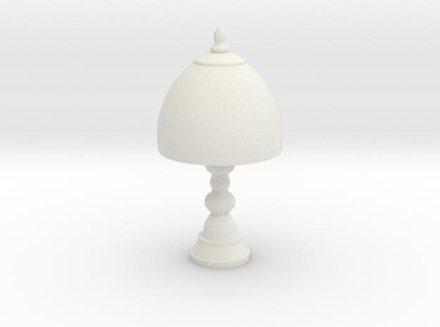 Small Victorian Lamp in White Natural Versatile Plastic