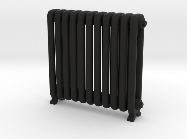 Period Radiator in Black Natural Versatile Plastic