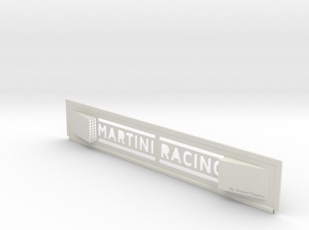 "Lancia Delta I ""Martini Racing"" window Shield 2 in White Strong & Flexible"