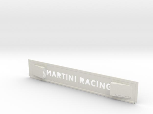 "Lancia Delta I ""Martini Racing"" window Shield 1 in White Strong & Flexible"