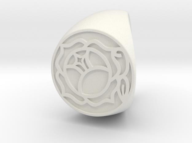 Utena Ring Size 8.5 v.2   in White Natural Versatile Plastic
