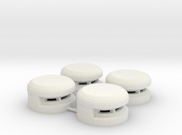 15 mm Round Bunker x4 (1) in White Natural Versatile Plastic