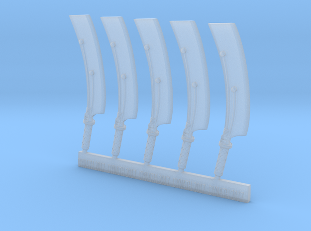 Mk1 - Techno-cleaver (x5) in Smooth Fine Detail Plastic