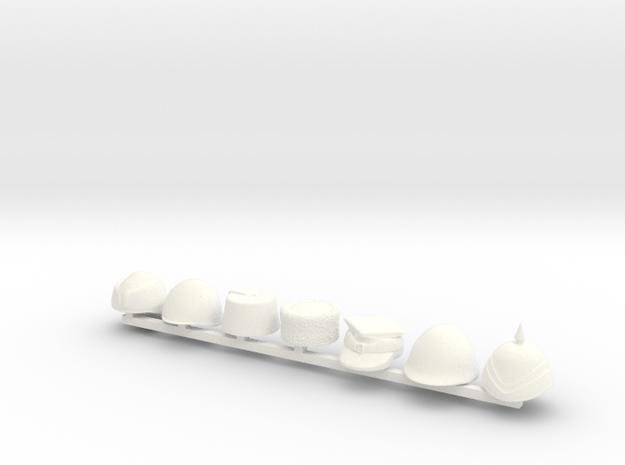 7 x 20th Century I in White Processed Versatile Plastic