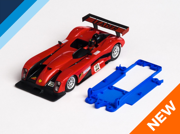 1/32 Fly Panoz LMP-1 Chassis for Slot.it pod in Blue Strong & Flexible Polished