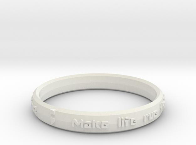 """""""Lemons"""" Unisex semicolon ring in White Natural Versatile Plastic"""