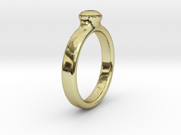 Diamond Solitaire Engagement Ring - Gold & Silver