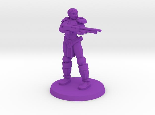 Raider Penny pose 3 NSFW in Purple Processed Versatile Plastic