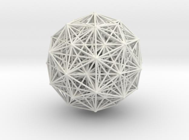 E8 polytope, orthographic in White Natural Versatile Plastic