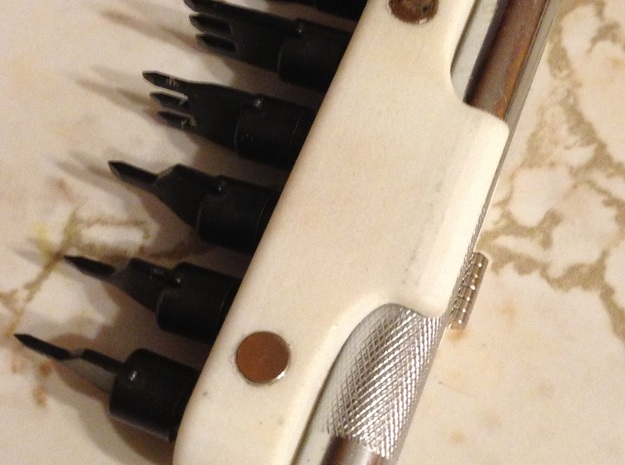 Leather Tool Holders - Lacing Chisel Set in White Processed Versatile Plastic