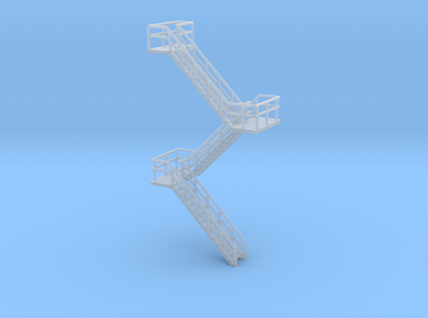 N Scale Staircase H60.4mm in Smooth Fine Detail Plastic