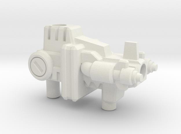 Laser Prime Gun (5mm and 3mm grips) in White Strong & Flexible: Medium