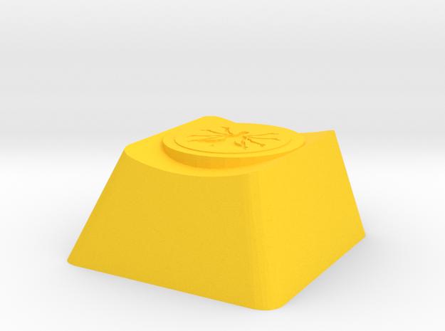 Overwatch Zenyatta Transcendence Cherry MX Key in Yellow Processed Versatile Plastic