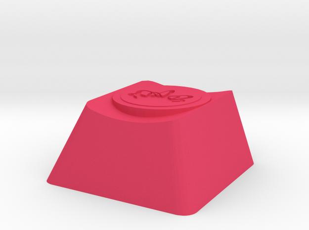 Overwatch Zarya Gravitation Surge Cherry MX Key in Pink Processed Versatile Plastic