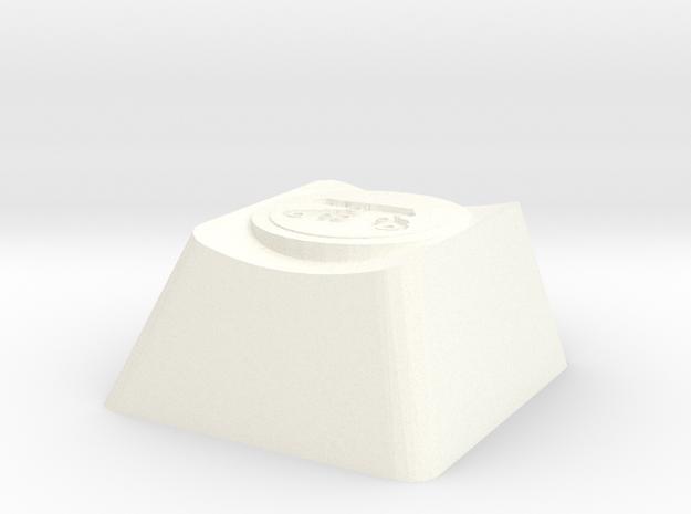 Overwatch Bastion Configuration Tank Cherry MX Key in White Processed Versatile Plastic