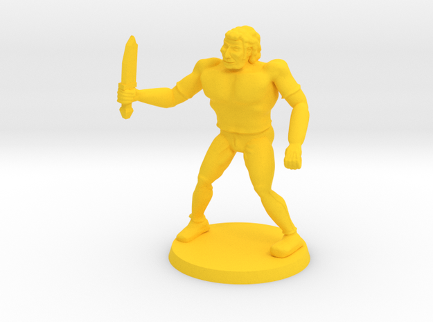 Drokk the Mercenary  in Yellow Processed Versatile Plastic