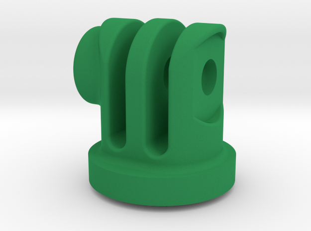 GoPro Insert for Garmin Flat Mount in Green Processed Versatile Plastic