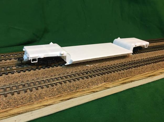 WP&Y Low Boy Flat Car in Frosted Ultra Detail: 1:87 - HO