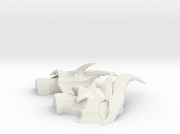 Daedric Helmet Bust in White Natural Versatile Plastic