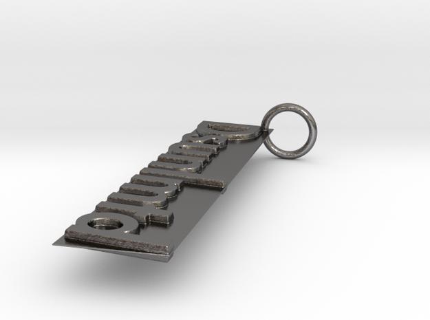 Dsunlmtd Keychain in Polished Nickel Steel