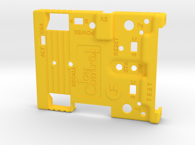Joy-Control 64 - Gehäuse-Oben v1.1 in Yellow Strong & Flexible Polished