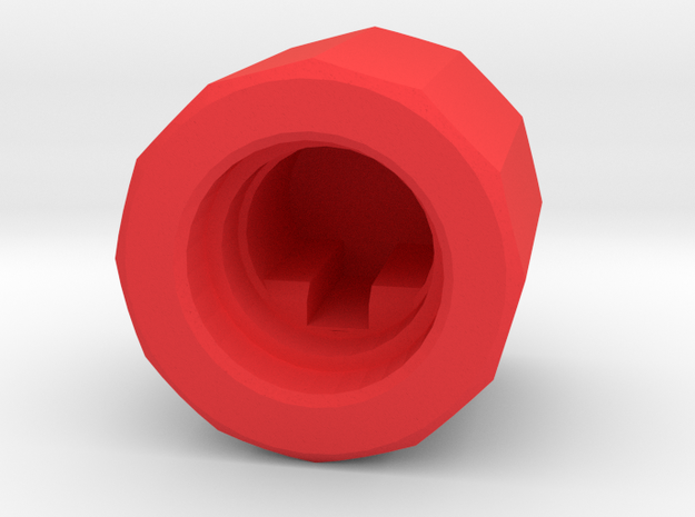 Joy-Control 64 - Knopf v1.1 in Red Processed Versatile Plastic