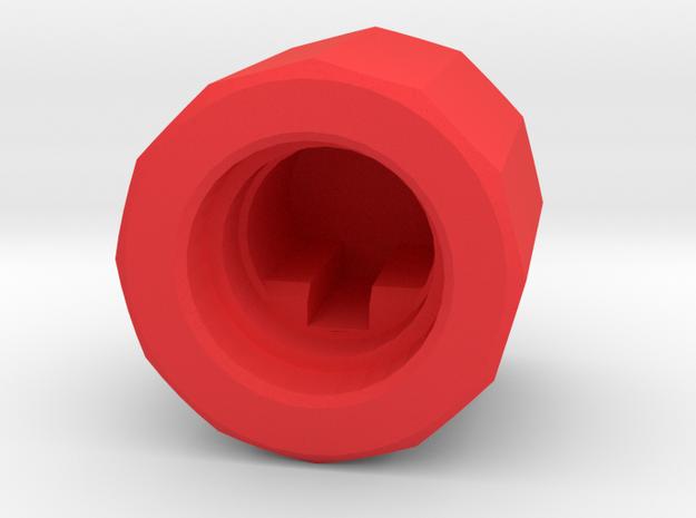 Joy-Control 64 - Knopf v1.1 in Red Processed Versatile Plastic