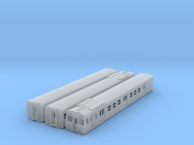 NHS2 - VR Hitachi 3 Car Set Orig Front - N Scale in Frosted Ultra Detail