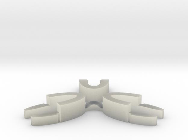 Set of 3 - Globe clamp (Massive armatures) in Transparent Acrylic