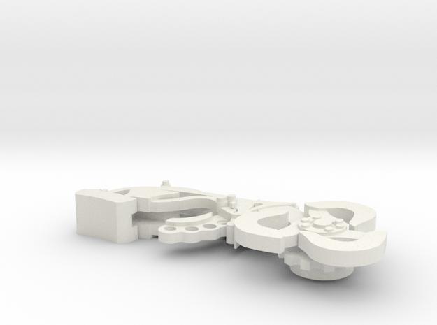 Skyhook in White Natural Versatile Plastic: Medium