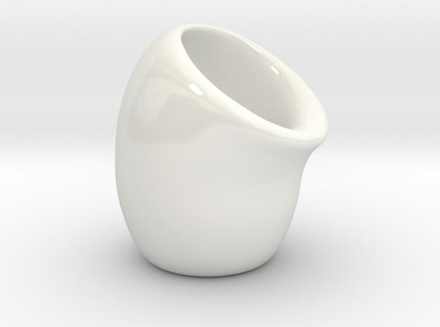 Ochoko (Sake cup) in Gloss White Porcelain
