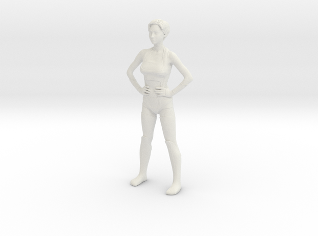 Nova - Power pose in White Natural Versatile Plastic