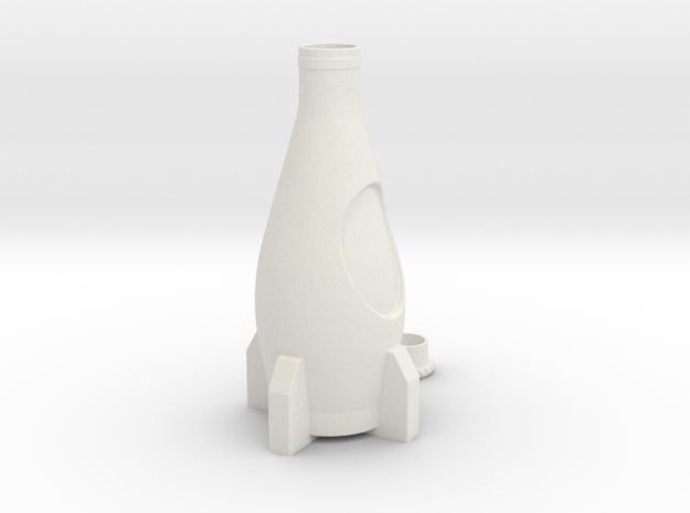 Nuka Cola Bottle in White Strong & Flexible