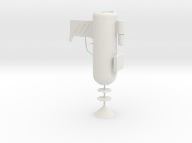 Rick and Morty Laser Gun in White Natural Versatile Plastic