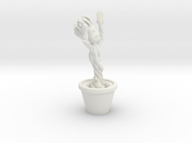 Dancing Groot in White Natural Versatile Plastic