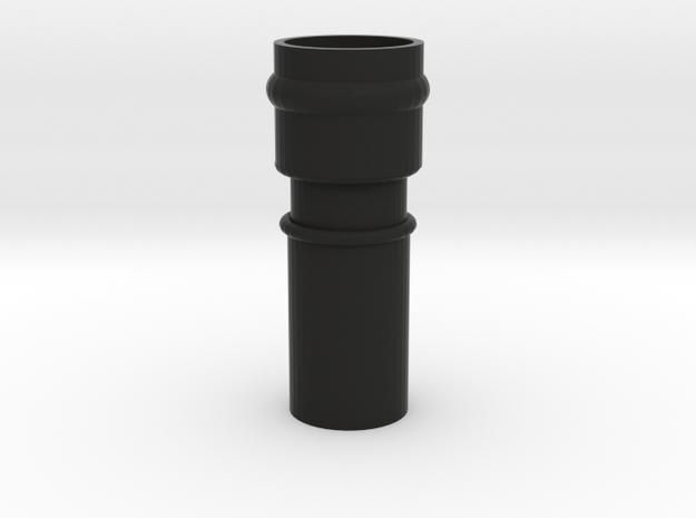 Cane Topper Coupler in Black Natural Versatile Plastic