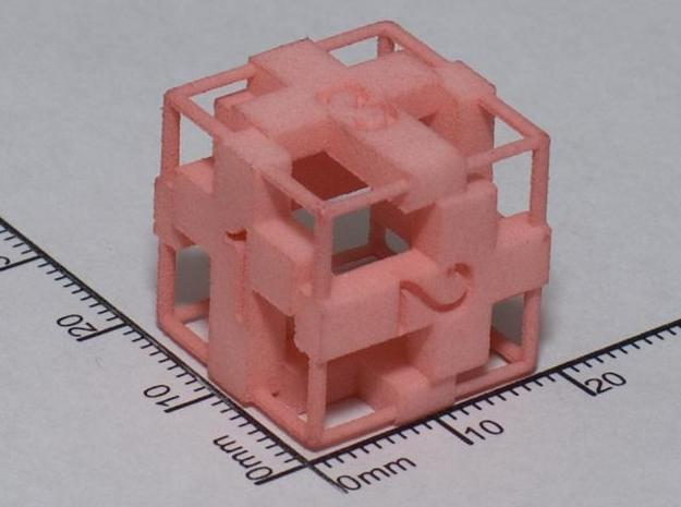 Cross D6 Die with frame in White Natural Versatile Plastic