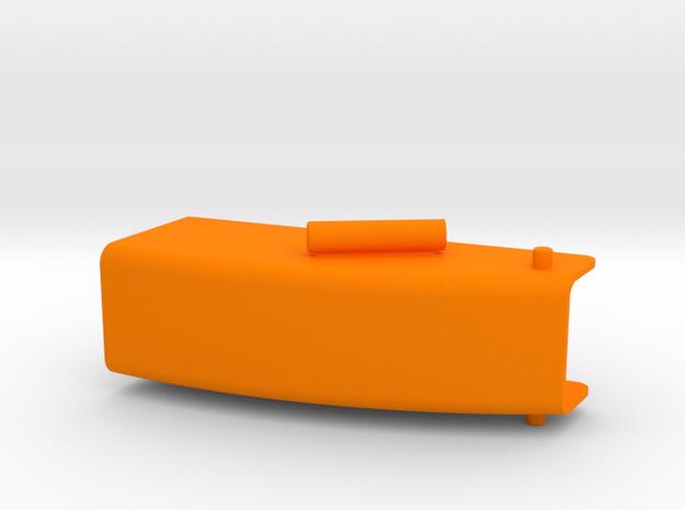 Auswurfkamin 25mm breit  in Orange Processed Versatile Plastic