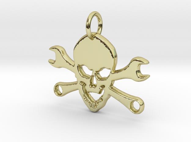 Skull and cross toolkeys Pendant