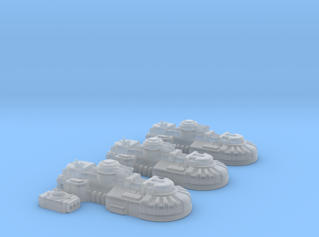 1/270 Rebel T1A Tanks (3) in Smooth Fine Detail Plastic