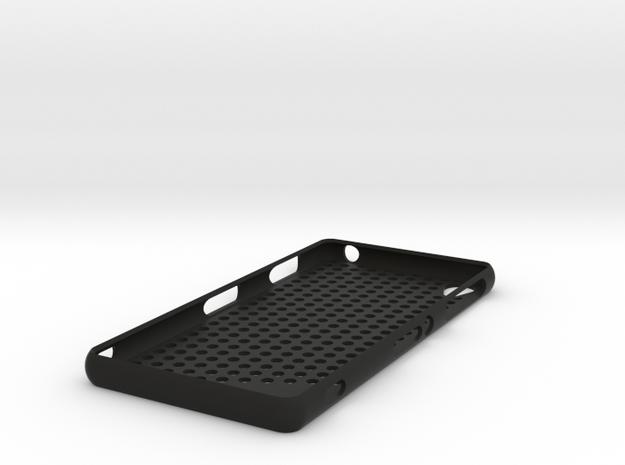 Sony Xperia Z3 case - circles in Black Natural Versatile Plastic