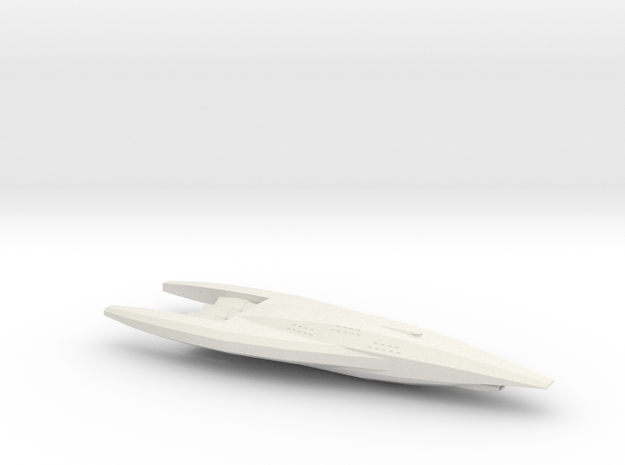 Caesar-Class Heavy Cruiser in White Natural Versatile Plastic