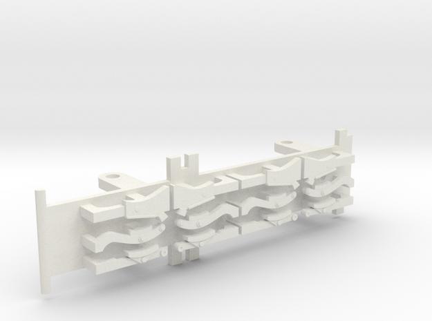 Furness D1, E1 & Cambrian SPC Tender - 00 Chassis in White Natural Versatile Plastic