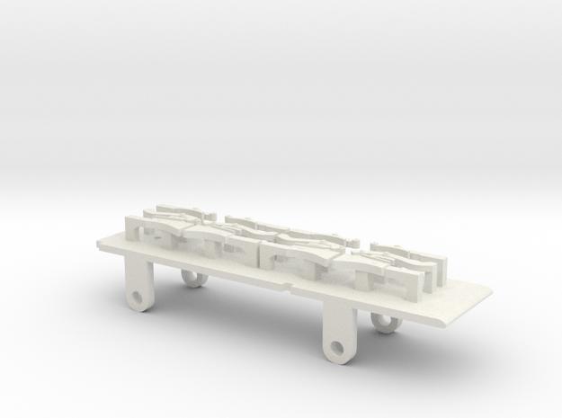 Furness D1, E1 & Cambrian SPC Tender - P4 Chassis in White Natural Versatile Plastic