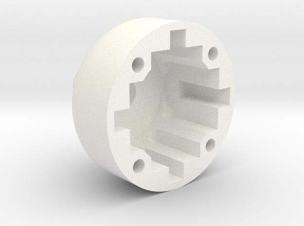 TC4 - Diff-Case-B44.3 (gear diff conversion)  in White Processed Versatile Plastic