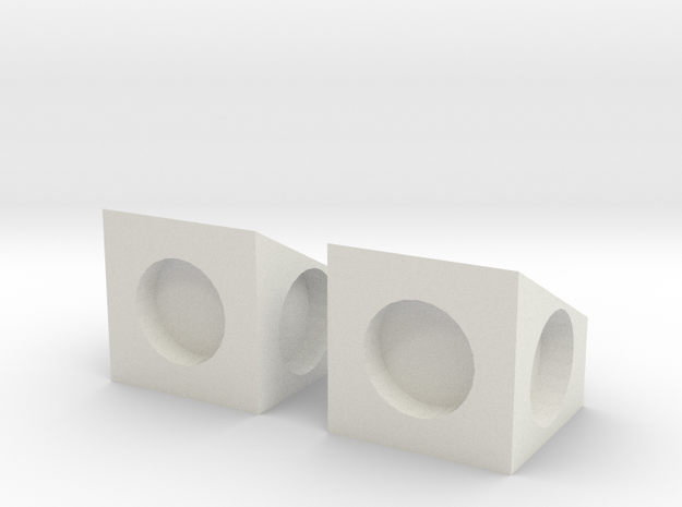 MPConnector - 90 degree Block 2 in White Strong & Flexible