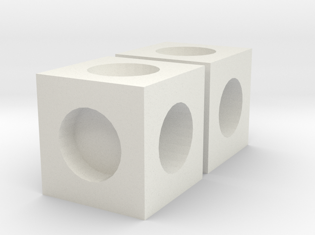 MPConnector - Connector Block 2 pack in White Strong & Flexible