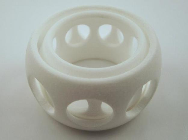 Ring'n'Roll w/ holes 3d printed In Polished White Strong and Flexible