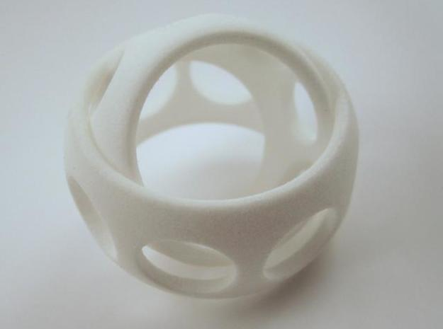 Ring'n'Roll w/ holes 3d printed In Polished White Strong and Flexible (other position)